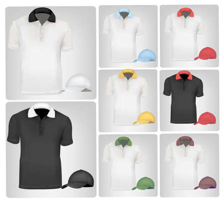 Colored polo shirts. Photo-realistic vector illustration Stock Vector - 9635397