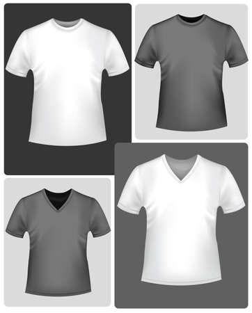 kurz: Schwarz und wei� T-shirts. Illustration
