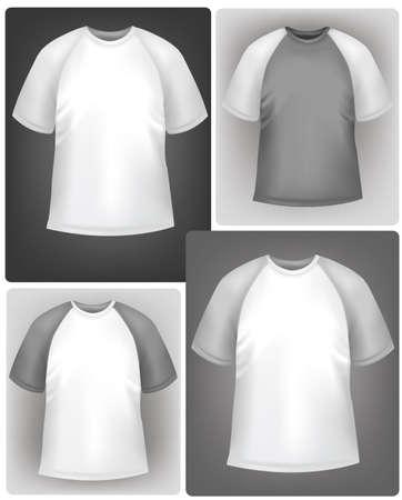 Sporty polo shirt design template.  Vector