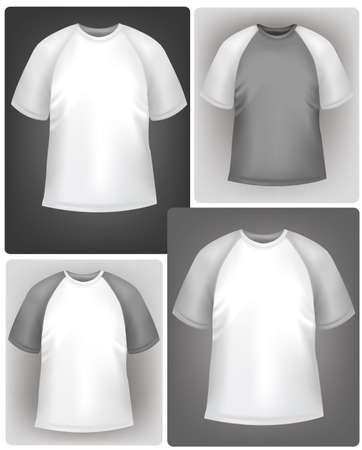 t shirt printing: Sporty polo shirt design template.  Illustration