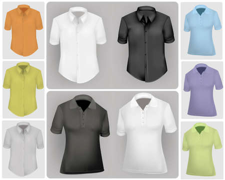 Colored shirts. Vector
