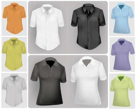 dress size: Colored shirts.