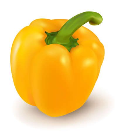 Yellow ripe pepper.