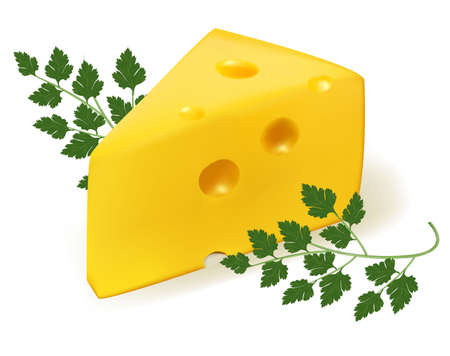 morsel: Cheese with parsley.