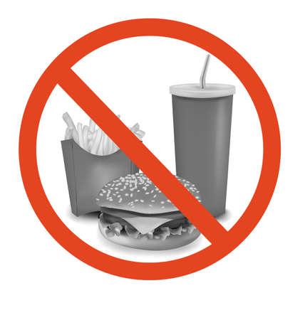 Fast food danger label.  Stock Vector - 9665294