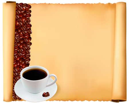 drink menu: Cafe menu design. Vector illustration.  Illustration