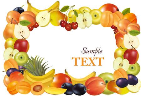 mangoes: Fruit design background. Vector. Illustration