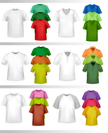 Color t-shirt design template. Photo-realistic vector illustration. Stock Vector - 9720294
