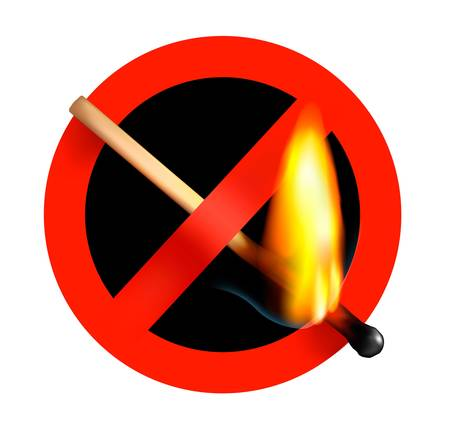 no matchstick fire sign. Vector illustration. Vector