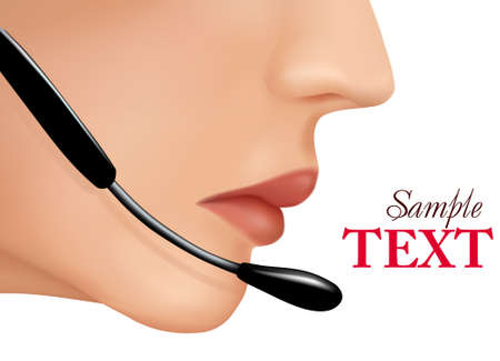 call center woman: