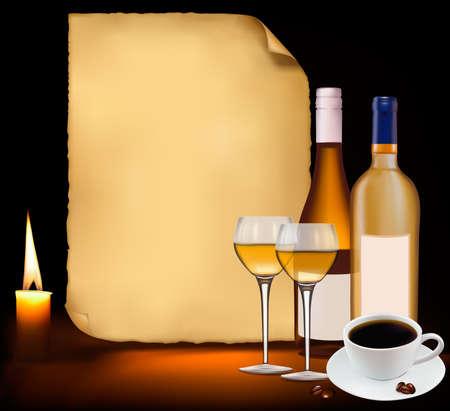 Restaurant menu design. Vector illustration.  Vector