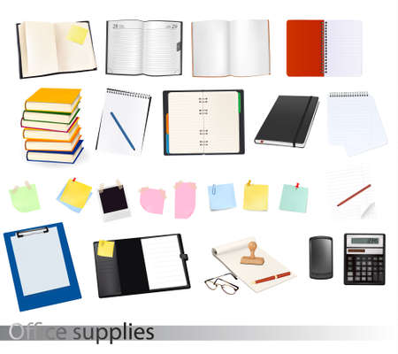 Business and office supplies. Vector illustration. Stock Vector - 9924173