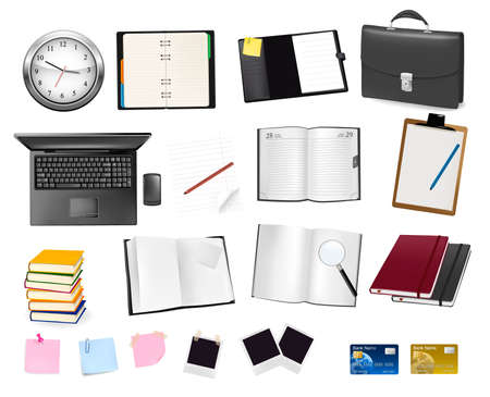 Business and office supplies. Vector. Stock Vector - 9924156