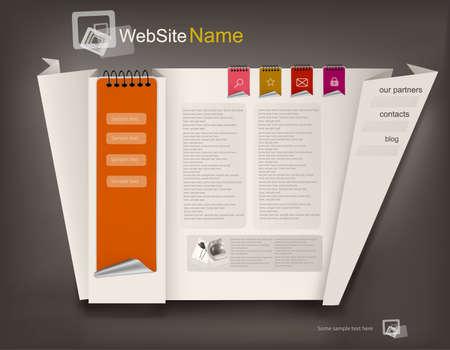 Business website design template. Vector illustration.  Vector