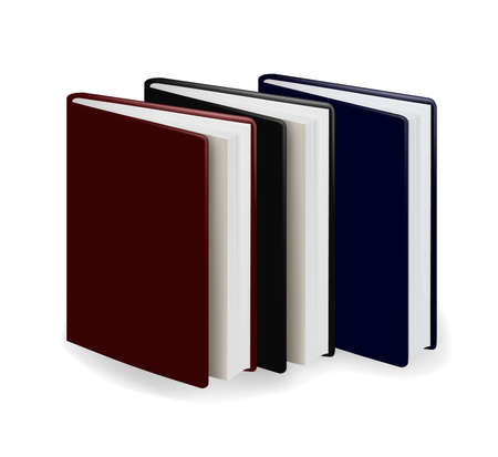 Three diary  on the white background. vector Vector