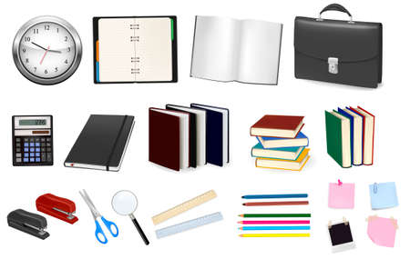 Business and office supplies. Vector.  Vector