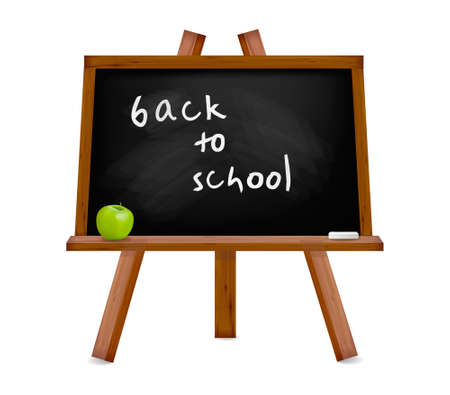 lectures: Back to school. Blackboard with easel with text. Vector illustration. Illustration