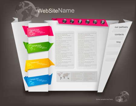 Business website design template. Vector illustration. Stock Vector - 10039495