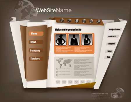 Business website design template. Vector illustration.  Vector