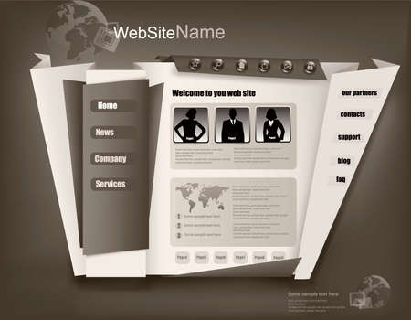 Business website design template. Vector illustration. Stock Vector - 10066692