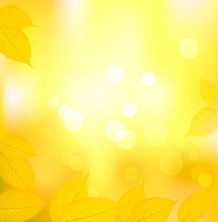 autumn background: Autumn background with yellow leaves. Back to school. Vector illustration