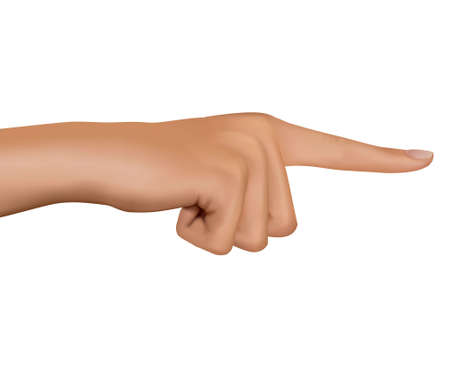 Hand with pointing finger. Vector.  Vector