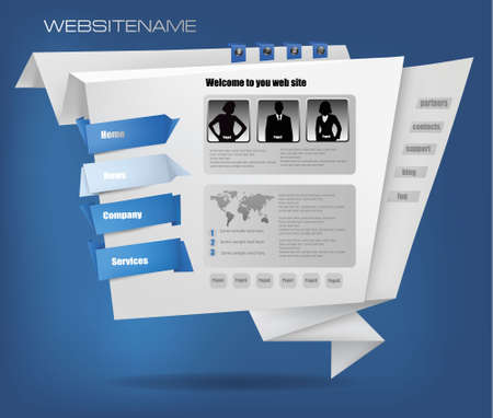 web site design template: Business website design template. Vector illustration.  Illustration
