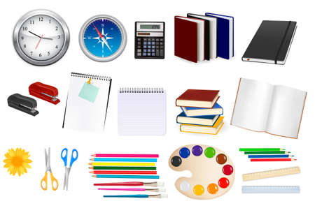 Collection of stationery for the office Stock Vector - 10421340
