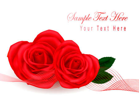 Valentine greeting card with hearts made from roses. Vector.  Stock Vector - 10553684