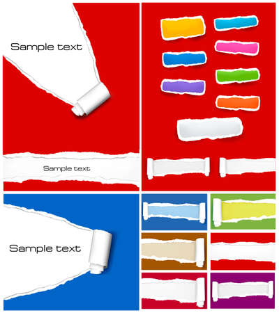 menu buttons: Huge set of colorful origami paper banners. Vector illustration.