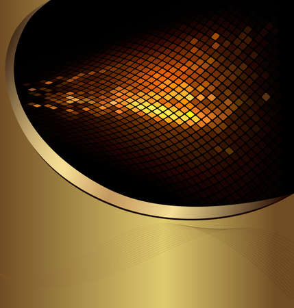 gold banner: Abstract business background. Vector illustration