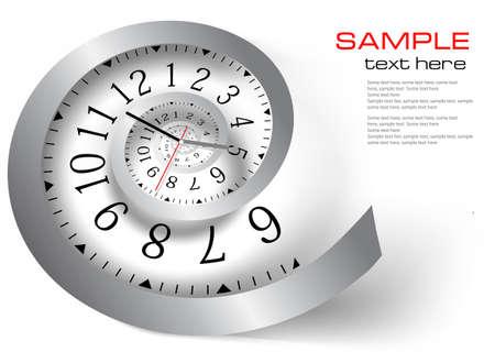 infinito: Tiempo infinito. Ilustraci�n vectorial Vectores