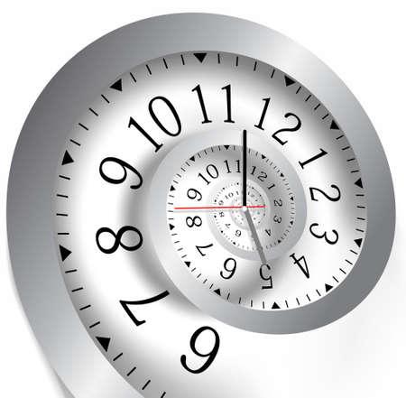 simbolo infinito: Infinito tempo. Illustrazione vettoriale Vettoriali