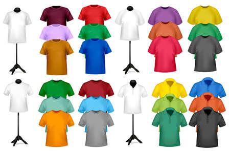 tshirt template: Color t-shirt design template. Vector illustration.