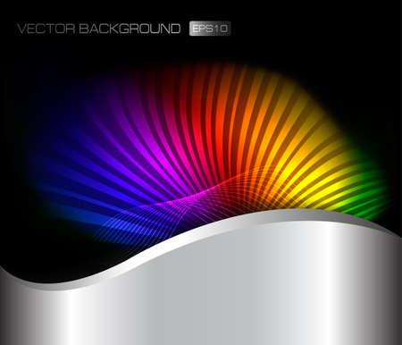 Abstract rainbow background. Vector illustration  Vector