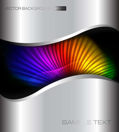 Abstract neon rainbow background. illustration  Vector
