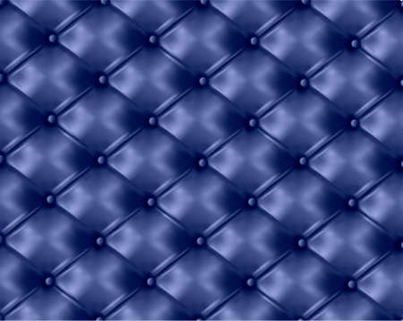 Blue button-tufted leather background. Vector illustration.  Vector