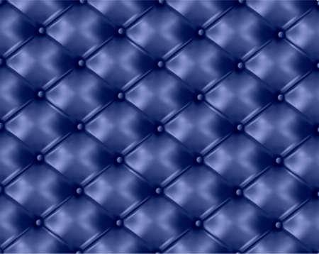 blue leather sofa: Tasto blu-pelle trapuntata background. Illustrazione vettoriale. Vettoriali