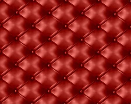 sofa viejo: Bot�n rojo-mechones de piel de fondo. Ilustraci�n vectorial.