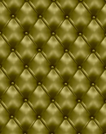 tufted: Green leather texture background. Vector illustration.