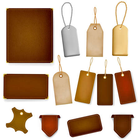 leather label: Mega set of leather labels and tags.