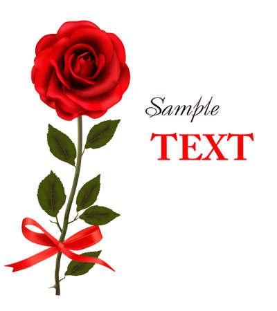rosas rojas: hermosa rosa roja sobre un fondo blanco. Vectores