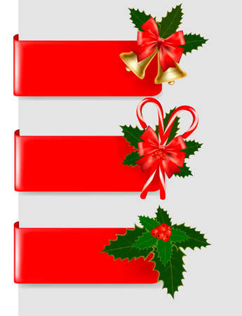 polly: Set of winter christmas banners. Vector illustration