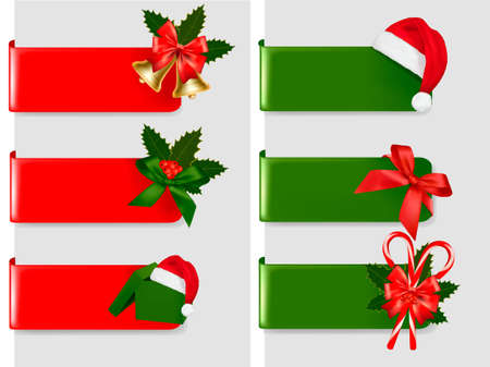 Set of winter christmas banners. Vector illustration  Vector