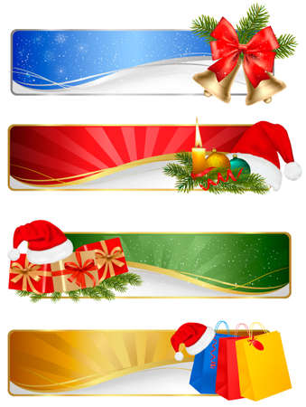 polly: Set of winter christmas banners. Vector illustration  Illustration