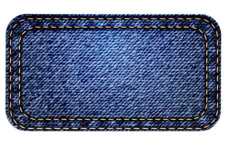denim: Detallada sobre las indicaciones blue jeans. Vector