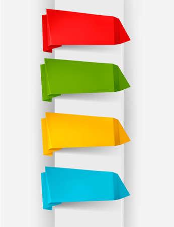 Résumé allocution en origami bulle fond vectoriel