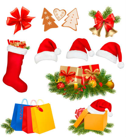 Set of Christmas icons. Vector illustration. Stock Vector - 11271428