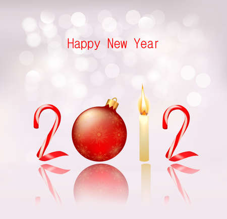Happy new year 2012! New year design template. Vector illustration. Stock Vector - 11347615