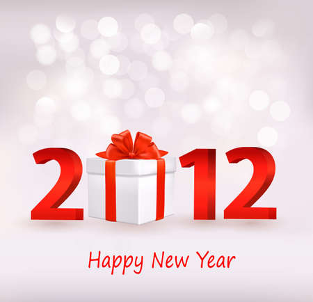 Happy new year 2012! New year design template. Vector illustration.  Vector